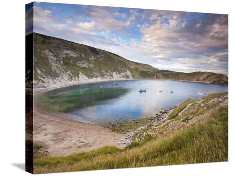 Lulworth Cove, Perfect Horseshoe-Shaped Bay, UNESCO World Heritage Site, Dorset, England-Neale Clarke-Stretched Canvas Print