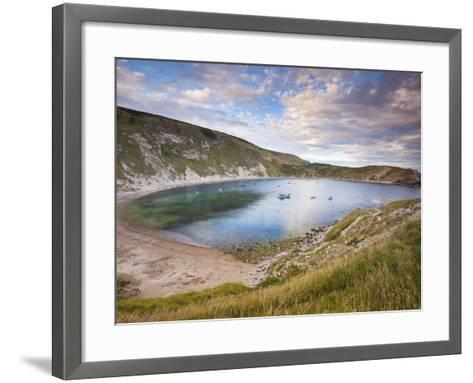 Lulworth Cove, Perfect Horseshoe-Shaped Bay, UNESCO World Heritage Site, Dorset, England-Neale Clarke-Framed Art Print