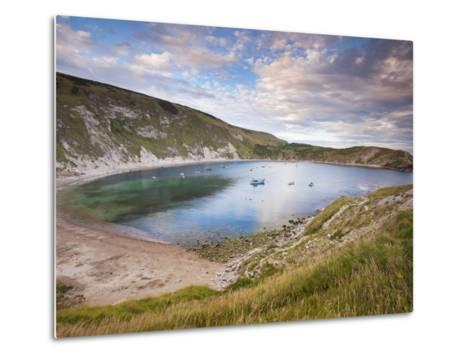 Lulworth Cove, Perfect Horseshoe-Shaped Bay, UNESCO World Heritage Site, Dorset, England-Neale Clarke-Metal Print