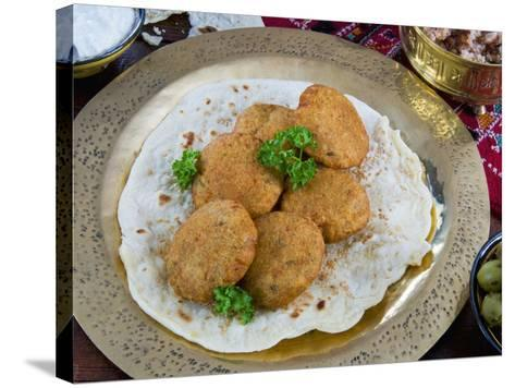 Falafel, Deep-Fried Balls or Patties Made from Ground Chickpeas and or Fava Beans, Arabic Countries-Nico Tondini-Stretched Canvas Print