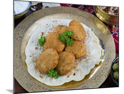 Falafel, Deep-Fried Balls or Patties Made from Ground Chickpeas and or Fava Beans, Arabic Countries-Nico Tondini-Mounted Photographic Print