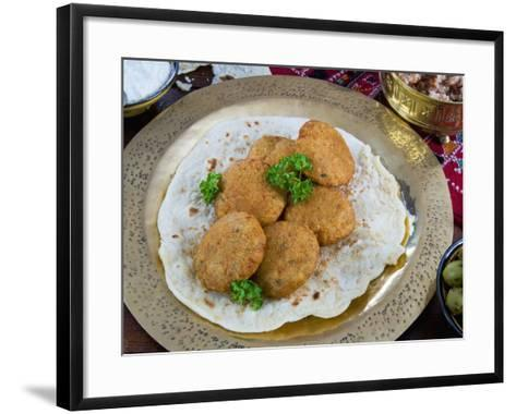 Falafel, Deep-Fried Balls or Patties Made from Ground Chickpeas and or Fava Beans, Arabic Countries-Nico Tondini-Framed Art Print
