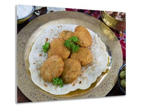 Falafel, Deep-Fried Balls or Patties Made from Ground Chickpeas and or Fava Beans, Arabic Countries-Nico Tondini-Metal Print