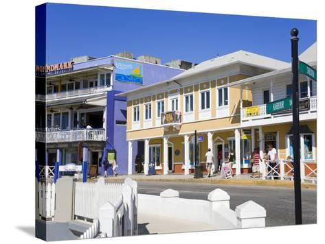 Stores on Harbour Drive, George Town, Grand Cayman, Cayman Islands, Greater Antilles, West Indies-Richard Cummins-Stretched Canvas Print
