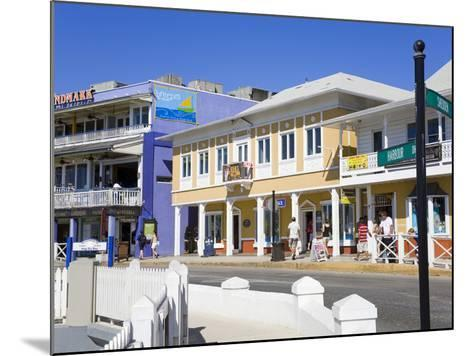 Stores on Harbour Drive, George Town, Grand Cayman, Cayman Islands, Greater Antilles, West Indies-Richard Cummins-Mounted Photographic Print