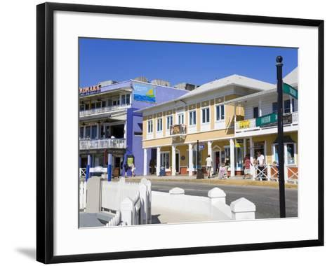 Stores on Harbour Drive, George Town, Grand Cayman, Cayman Islands, Greater Antilles, West Indies-Richard Cummins-Framed Art Print