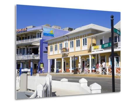 Stores on Harbour Drive, George Town, Grand Cayman, Cayman Islands, Greater Antilles, West Indies-Richard Cummins-Metal Print