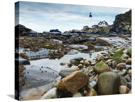 Portland Head Lighthouse, Portland, Maine, New England, United States of America, North America-Alan Copson-Stretched Canvas Print