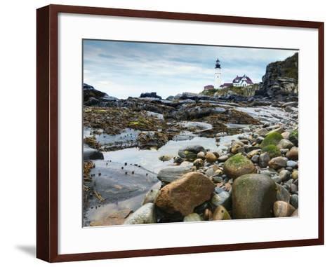 Portland Head Lighthouse, Portland, Maine, New England, United States of America, North America-Alan Copson-Framed Art Print