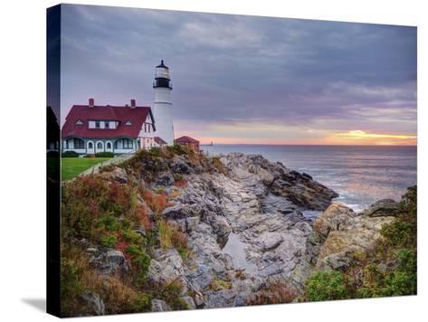 Portland Head Lighthouse at Sunrise, Portland, Maine, New England, USA, North America-Alan Copson-Stretched Canvas Print