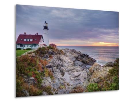 Portland Head Lighthouse at Sunrise, Portland, Maine, New England, USA, North America-Alan Copson-Metal Print