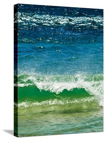 Small Green Wave, Strait of Gibraltar, El Estrecho Nat'l Park Tarifa, Costa de La Luz, Spain-Giles Bracher-Stretched Canvas Print