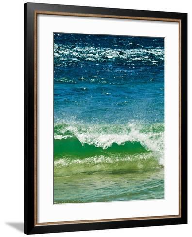 Small Green Wave, Strait of Gibraltar, El Estrecho Nat'l Park Tarifa, Costa de La Luz, Spain-Giles Bracher-Framed Art Print