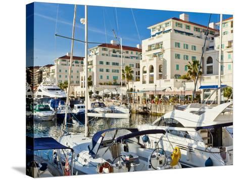 Queensway Quay Marina, Gibraltar, Mediterranean, Europe-Giles Bracher-Stretched Canvas Print