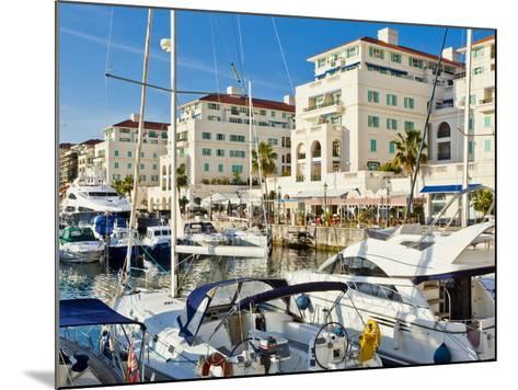 Queensway Quay Marina, Gibraltar, Mediterranean, Europe-Giles Bracher-Mounted Photographic Print