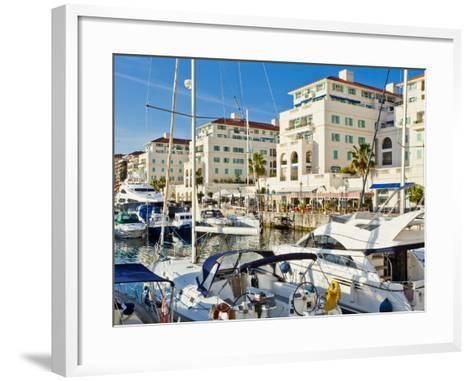 Queensway Quay Marina, Gibraltar, Mediterranean, Europe-Giles Bracher-Framed Art Print