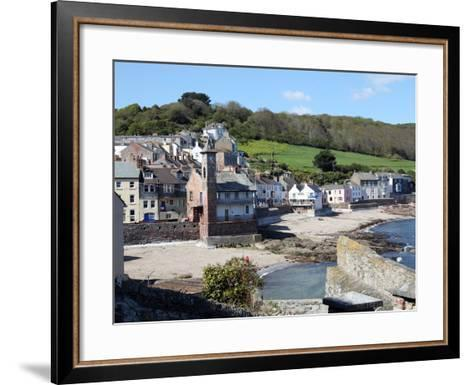 Old Clock Tower in the Village of Kingsand on Southwest Corner of Plymouth Sound, Devon, England-David Lomax-Framed Art Print