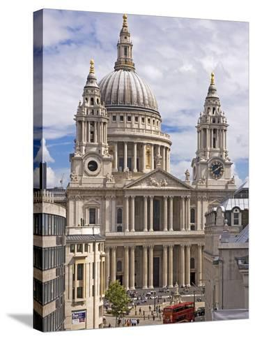 St. Paul's Cathedral Designed by Sir Christopher Wren, London, England, United Kingdom, Europe-Walter Rawlings-Stretched Canvas Print