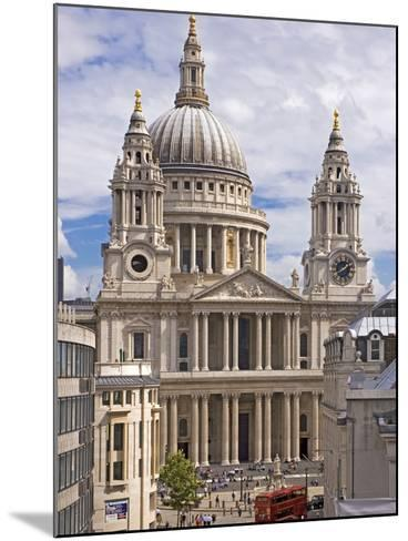 St. Paul's Cathedral Designed by Sir Christopher Wren, London, England, United Kingdom, Europe-Walter Rawlings-Mounted Photographic Print