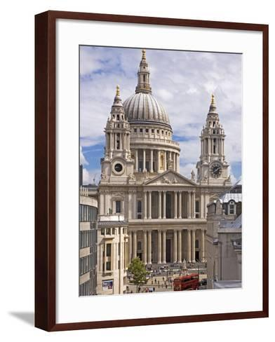 St. Paul's Cathedral Designed by Sir Christopher Wren, London, England, United Kingdom, Europe-Walter Rawlings-Framed Art Print