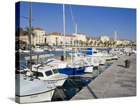 Fishing Boats on the Waterfront, Split, Dalmatian Coast, Croatia, Europe-Richard Cummins-Stretched Canvas Print