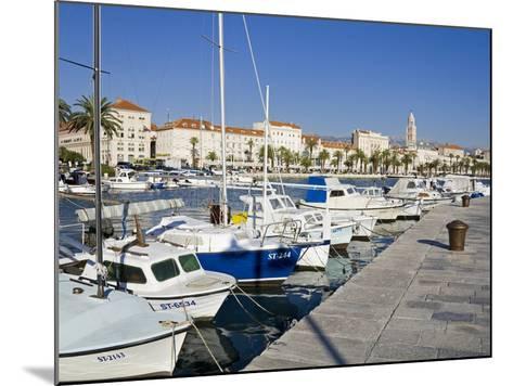 Fishing Boats on the Waterfront, Split, Dalmatian Coast, Croatia, Europe-Richard Cummins-Mounted Photographic Print
