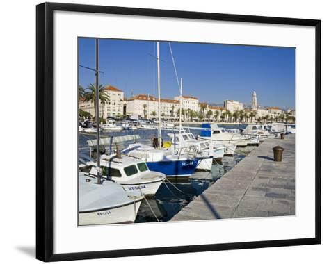 Fishing Boats on the Waterfront, Split, Dalmatian Coast, Croatia, Europe-Richard Cummins-Framed Art Print