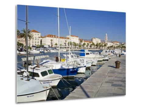 Fishing Boats on the Waterfront, Split, Dalmatian Coast, Croatia, Europe-Richard Cummins-Metal Print