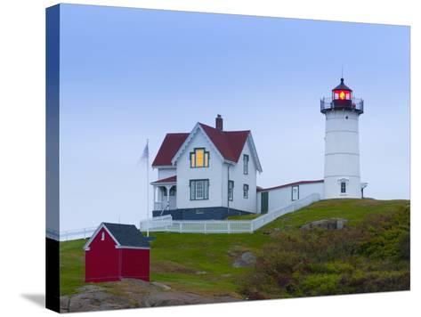 Cape Neddick (The Nubble) Lighthouse, Cape Neddick, Maine, New England, USA, North America-Alan Copson-Stretched Canvas Print