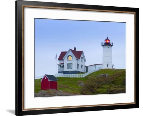 Cape Neddick (The Nubble) Lighthouse, Cape Neddick, Maine, New England, USA, North America-Alan Copson-Framed Art Print