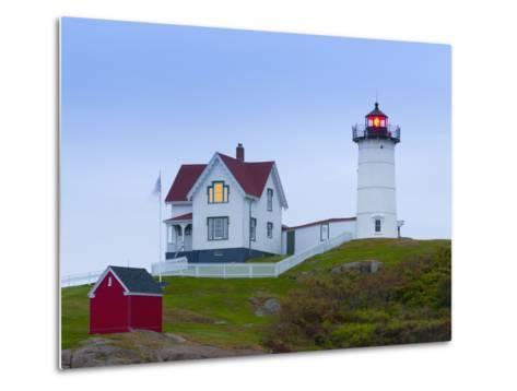 Cape Neddick (The Nubble) Lighthouse, Cape Neddick, Maine, New England, USA, North America-Alan Copson-Metal Print