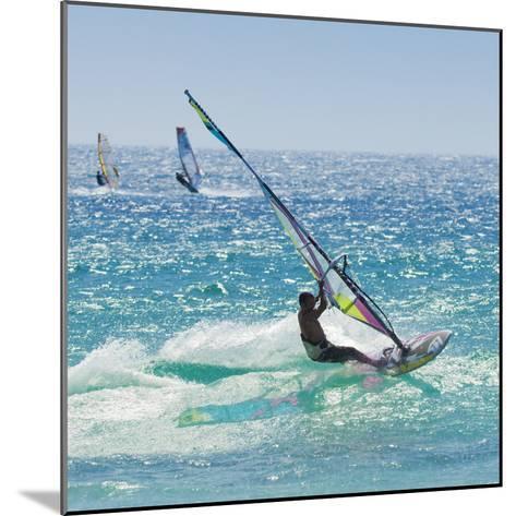 Windsurfer Riding Wave, Bonlonia, Near Tarifa, Costa de La Luz, Andalucia, Spain, Europe-Giles Bracher-Mounted Photographic Print