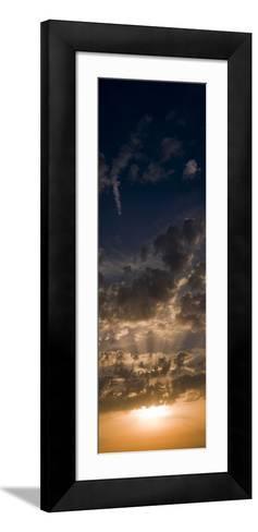 Sunset Sky, Large Format Vertical Panoramic, West Sussex, England, United Kingdom, Europe-Giles Bracher-Framed Art Print