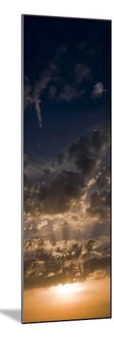 Sunset Sky, Large Format Vertical Panoramic, West Sussex, England, United Kingdom, Europe-Giles Bracher-Mounted Photographic Print