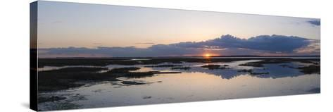 Sunset over Marshes of Chichester Harbour on a Very Still Evening, West Sussex, England, UK, Europe-Giles Bracher-Stretched Canvas Print