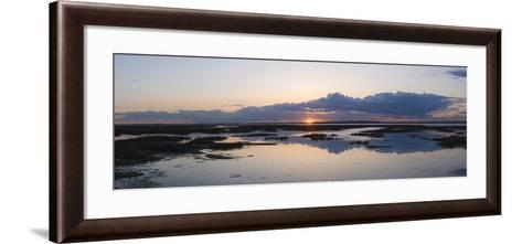 Sunset over Marshes of Chichester Harbour on a Very Still Evening, West Sussex, England, UK, Europe-Giles Bracher-Framed Art Print