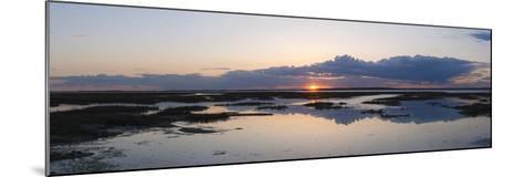 Sunset over Marshes of Chichester Harbour on a Very Still Evening, West Sussex, England, UK, Europe-Giles Bracher-Mounted Photographic Print