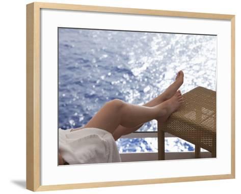 Woman on a Cruise Ship, Nassau, Bahamas, West Indies, Caribbean, Central America-Angelo Cavalli-Framed Art Print