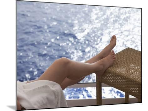 Woman on a Cruise Ship, Nassau, Bahamas, West Indies, Caribbean, Central America-Angelo Cavalli-Mounted Photographic Print