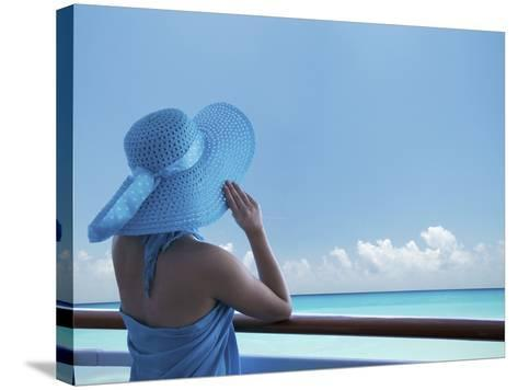 Woman on a Cruise Ship, Nassau, Bahamas, West Indies, Caribbean, Central America-Angelo Cavalli-Stretched Canvas Print