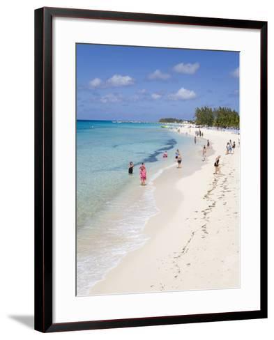 White Sands Beach, Grand Turk Island, Turks and Caicos Islands, West Indies, Caribbean-Richard Cummins-Framed Art Print