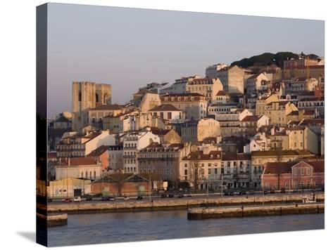 Cathedral and Alfama District at Dawn, Lisbon, Portugal, Europe-Rolf Richardson-Stretched Canvas Print