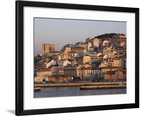 Cathedral and Alfama District at Dawn, Lisbon, Portugal, Europe-Rolf Richardson-Framed Art Print