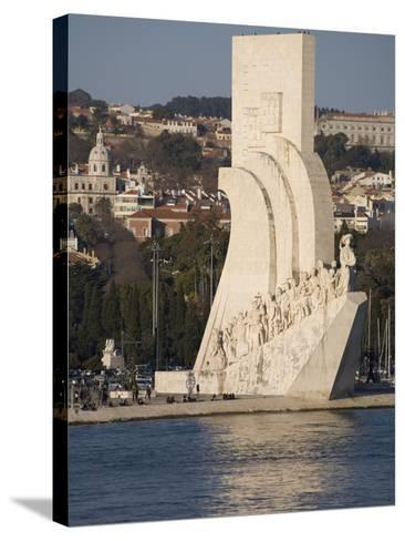 River Tagus and Monument to the Discoveries, Belem, Lisbon, Portugal, Europe-Rolf Richardson-Stretched Canvas Print