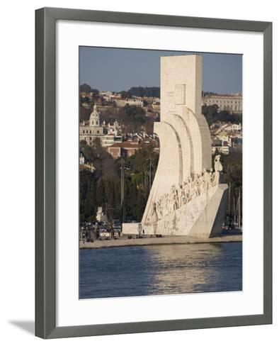 River Tagus and Monument to the Discoveries, Belem, Lisbon, Portugal, Europe-Rolf Richardson-Framed Art Print