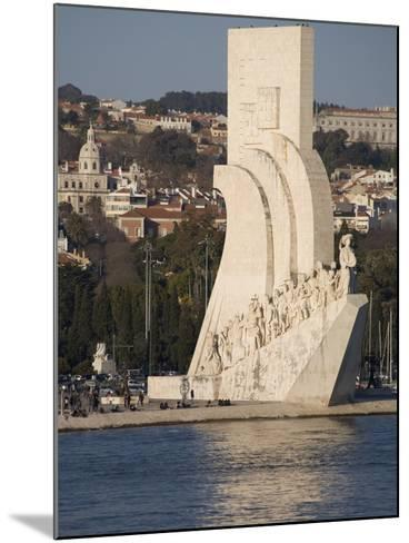 River Tagus and Monument to the Discoveries, Belem, Lisbon, Portugal, Europe-Rolf Richardson-Mounted Photographic Print