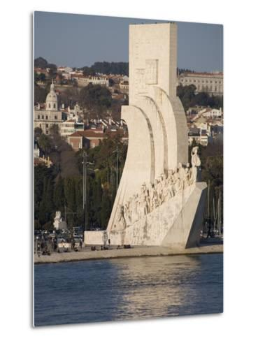 River Tagus and Monument to the Discoveries, Belem, Lisbon, Portugal, Europe-Rolf Richardson-Metal Print