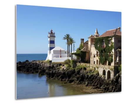 Lighthouse, Cascais, Portugal, Europe-Jeremy Lightfoot-Metal Print