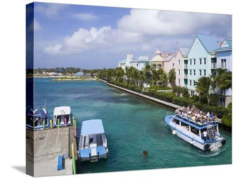 Paradise Island Ferry Terminal, Nassau City, New Providence Island, Bahamas, West Indies-Richard Cummins-Stretched Canvas Print