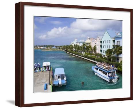 Paradise Island Ferry Terminal, Nassau City, New Providence Island, Bahamas, West Indies-Richard Cummins-Framed Art Print